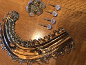 Rosette, foglie e chiodi, ricambi per specchi e plafoniere , in vetro soffiato di Murano