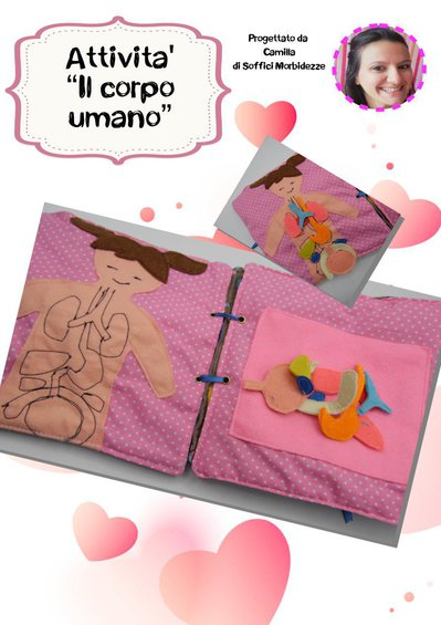 "TUTORIAL ATTIVITA' QUIET BOOK ""Corpo umano""- PDF"