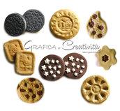 Calamite a forma di biscotti per tableau de mariage/segnaposto