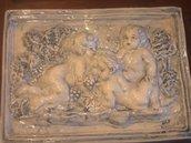 Pannello ceramica putti angeli