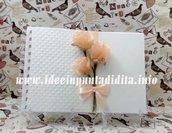 Guest Book Matrimonio fatto a mano firme ospiti bianco personalizzabile