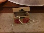 Cofanetto legno rose decoupage