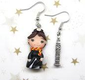 Orecchini Mary Poppins fimo regalo ragazza donna kawaii