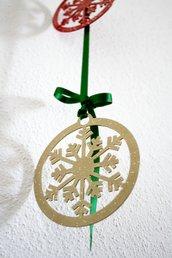 FIOCCO DI NEVE IN CERCHIO 3D - Small. Decorazioni natalizie originali e allegri!