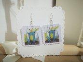 Orecchini carta Gioielli decoupage Frog rana Idea regalo Personalizzabili