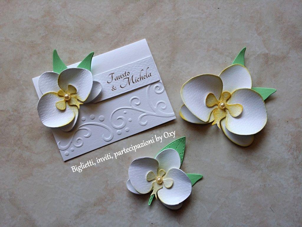 Segnaposto Matrimonio Orchidea.Segnaposto Segnatavolo Orchidea Feste Matrimonio Di