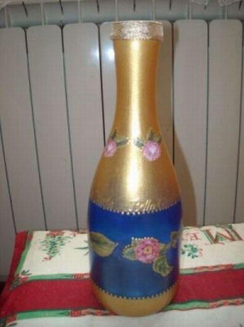 Bottiglia dipinta a mano