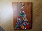 Quadretto String Art albero di Natale