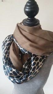 sciarpa in seta e lana