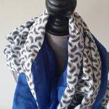 sciarpa scialle doppio in pura seta e pura lana