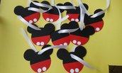 Topolino targhette/michey mouse/mickey mouse tema compleanno/compleanno topolino/compleanno bambino/compleanno bimbo/1°compleanno/primo compleanno bambino/compleanno personalizzato per bambini