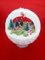 Pallina paesaggio natalizio