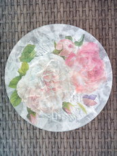 Piatto decorativo al decoupage