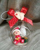 Sfera vetro bimbo Natale