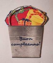 CHIUDIPACCO con dedica # BUON COMPLEANNO#