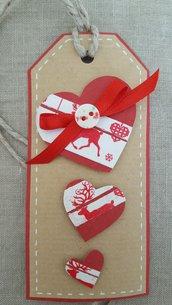 tag natalizio con cuori