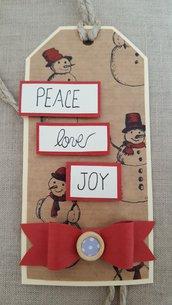 Tag natalizio con fiocco