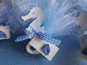 confetti nascita,battesimo, prima comunione tema mare ,ancore,timoni e cavallucci marini in legno
