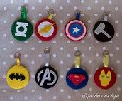 Portachiavi stemmi supereroi