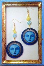 "Orecchini handmade ""Full Moon"""