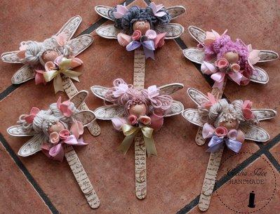 Segnalibro libellula  fatto a mano