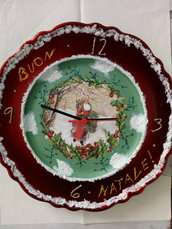 Piatto -orologio natalizio