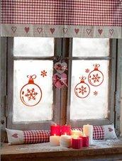 Palline natalizie adesive con fiocchi di neve