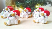 Unicorno di Natale, unicorni ciondoli, palline Natale, bomboniera battesimo, decorazioni Natale, compleanno unicorno, calendario avvento
