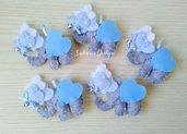 Bomboniera elefante con cuori, elefante feltro, bomboniera nascita, bomboniere battesimo, festa elefante, bomboniere animali