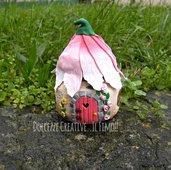 Lanternina - lanterna fuore - idea regalo, casetta delle fate con foglie - kawaii - handmade . kawaii