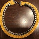 Collana girocollo catena gialla