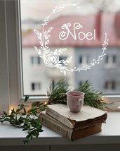 Adesivo natalizio Ghirlanda Noel