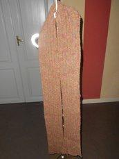 Sciarpa lunga multicolor - sciarpa unisex uomo donna - sciarpa lavorata a mano  -