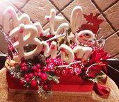 Centrotavola natalizio con biscotti in pdz
