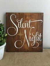 Adesivo natalizio Silent Night