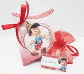 Bomboniera Pinocchio Baby Battesimo Nascita Compleanno SEGNAPOSTO  CONFETTI