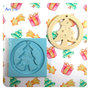 Stampo in silicone Albero di Natale con cerchio decorazione appendibile, stampo per resina e gesso, stampo fessibile per decorazioni natalizie