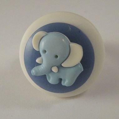 """anello bottone """"elefantino blu"""""""