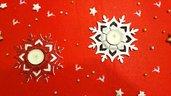 2 Portacandele centrotavola natalizi.