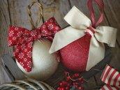 DECORAZIONI ALBERO di Natale - palline albero di Natale, palline in tessuto, decorazioni country