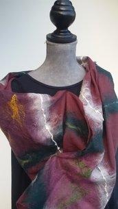 sciarpa di lana nunofelt