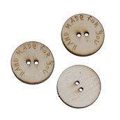 3*10 Bottoni rotondi in Legno naturale a 2 Fori 2 cm per decorazioni, scrapbooking, ecc