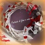 Ghirlanda natalizia in rattan