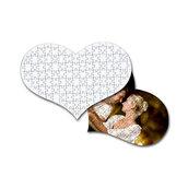 Fotopuzzle a forma di cuore personalizzabile