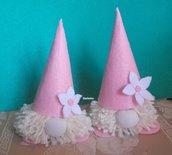ATTENZIONE gnomi petalosi: coppia di gnomi rosa