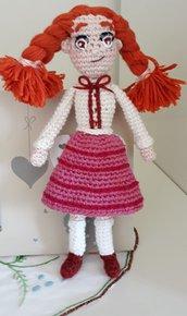 Judy Abbott - bambolina in cotone realizzata a mano