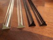 Triedri, ricambi per lampadari Venini, con pezzi rotti, in vetro di Murano, color trasparente o fumè
