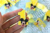 """20 Calamite bomboniere Mickey Mouse """"Topolino"""", primo compleanno"""