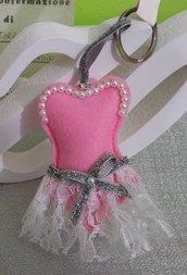 portachiavi segnaposto ballerina
