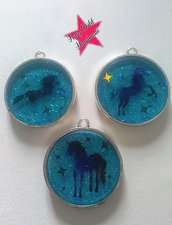 Set 3 charms magici unicorno